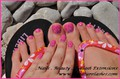 Shellac Summer Toes Nail Art Photos, Shellac Nail Art Pictures